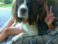 Me and my dog Kaos <3 ignore my tongue