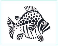 Fish Stencil | It's a wonderful way to decorate a room or create your own masterpiece ...