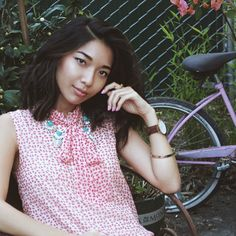 Stephanie Liu of Honey & Silk wearing Palm Royale! #chloeandisabel