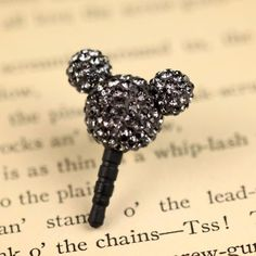 MiniSuit Mickey Universal Cell Phone Dustplug for 3.5mm Earphone Jack Cap (Gray…