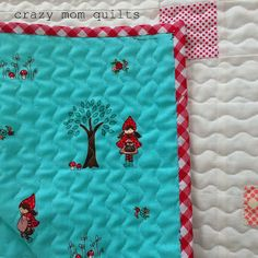 crazy mom quilts - Tasha Noel for Riley Blake little red riding hood print - awesome for quilt backing