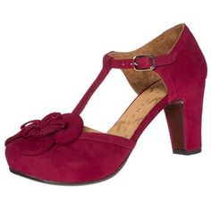 Chie Mihara LUSA Platform heels ante rojo