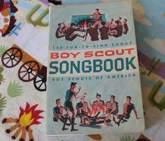 Book - Vintage - Boy Scout - 1960s - Song Book - Handbook - Music - Campfire. via Etsy.