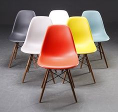 Eames chairs! yes, yes, and yes!  all around my dining room/kitchen table please