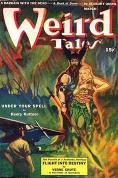 """Weird Tales (1943) feauring """"Under Your Spell"""" by Henry Kuttner."""