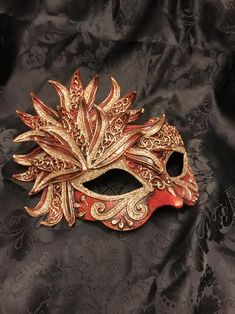 Venetian Masquerade Mask Venice mask Flower | Etsy Venice Mask, Venetian Masquerade Masks, Acrylic Colors, Mask Making, Amazing Decor, Garden Items, Brooch, Primary Colors, Masters