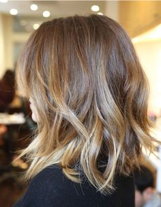 like the soft waves, this can be achieved with a 1 inch curler on the bottom of your hair. Then brush it, and it works best if you straighten it and have short hair.