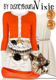 DisneyBound is meant to be inspiration for you to pull together your own outfits which work for your body and wallet whether from your closet or local mall. As to Disney artwork/properties: ©Disney Movie Inspired Outfits, Disney Inspired Fashion, Disney Fashion, Copper Dress, Casual Outfits, Cute Outfits, Disney Bound Outfits, The Fox And The Hound, Disney And More