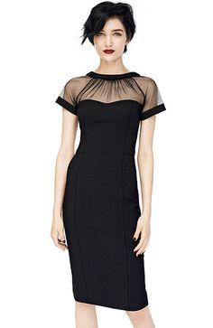 robe moulante dos dénudé -Noir 11.66