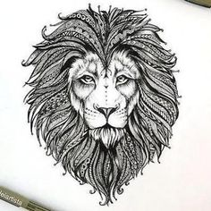 Beautiful Lion Head Tattoo Design