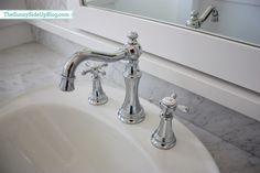 Moen's Weymouth chrome two-handle high arc bathroom faucet