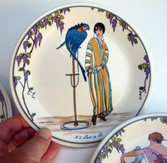 Villeroy and Boch set of four Dessert Plates by BlueRoseRetro, $99.00