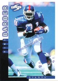 tiki barber football card | 1998 New York Giants Football Trading Cards