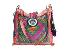 black tai bag  ethnic tribal tote by fairlyworn on Etsy