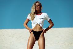 Slip Slop Slap Swimwear Photography Shoot with Faeswim by Leila Joy featuring Phoebe O'Hanlon The Dunes, Bikini Bottoms, Bikinis, Swimwear, Model, Photography, Shirts, Editorial, Fashion