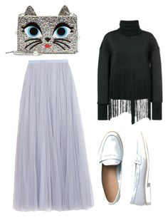 """""""Untitled #820"""" by cathatin on Polyvore featuring Ioana Ciolacu, Needle & Thread, Karl Lagerfeld and Gap"""