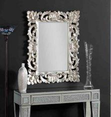 Klassischer Wandspiegel : Modell VESTAL silbern