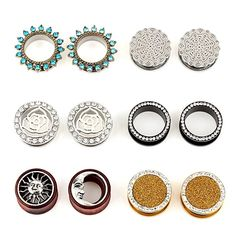 Body Piercing Jewelry Fashion Jewelry Delicious Pair Of Cherry Quartz Tunnel Plugs Gauges Body Jewelry Double Flared To Win A High Admiration