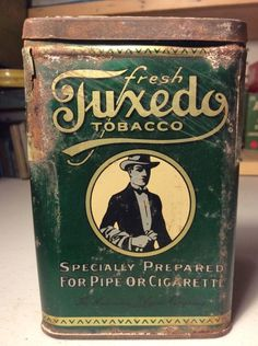 Vintage Patterson's Tuxedo Tobacco Tin Can Pocket Advertising LOT #T1119 Smoke