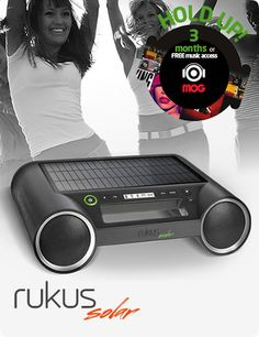 The Eton Rukus Solar is a portable Bluetooth sound system with a high efficiency solar panel, so you can play your tunes all day long. Take it out to the park, to a tailgate, or use it at home with this self-powered sound system.