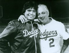Fernando Valenzuela and Tommy Lasorda