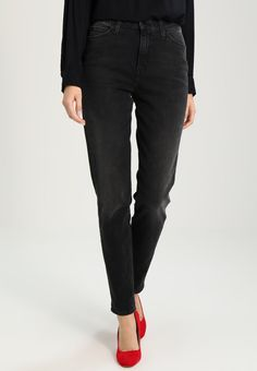 Lee MOM STRAIGHT - Jeansy Relaxed Fit - punk deluxe - Zalando.pl