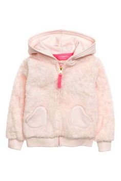 H&M - Hooded pile jacket Baby Outfits Newborn, Toddler Outfits, Kids Outfits, Baby Girl Fashion, Kids Fashion, Baby Dress Design, Girls Jumpers, Carhartt Jacket, Baby Girl Winter