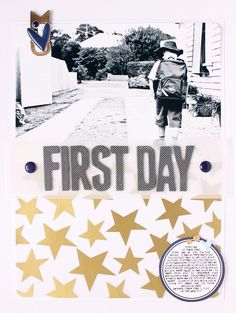 The simplicity, beauty and perfection of this layout just blows me away...I seriously love this...First Day (Prep) by emma_kw at @Studio_Calico
