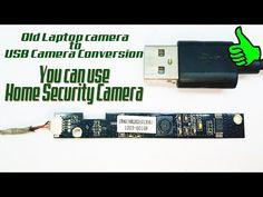 DIY Home Security Camera | Old Laptop camera to USB Camera Conversion - YouTube Diy Security Camera, Diy Home Security, Security Cameras For Home, Spy Gadgets, Electronics Gadgets, Electronics Projects, Laptop Camera, Electronic Schematics, Home Camera