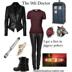 Rubylebeau ninth doctor, character inspired outfits, doctor who outfits, fa Doctor Who Outfits, Fandom Outfits, Nerd Outfits, Casual Cosplay, Cosplay Outfits, Cosplay Ideas, Cosplay Costumes, Character Inspired Outfits, Character Ideas