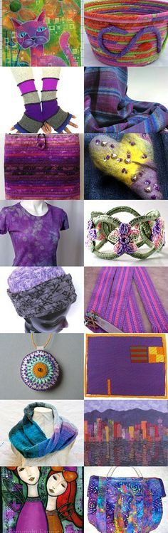 Lovely in Purple by Cindy Grisdela on Etsy--Pinned with TreasuryPin.com