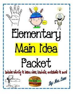 Elementary Main Idea Packet!