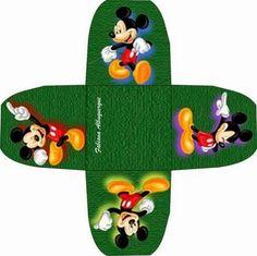 Mickey Mouse: Cajas Abiertas para Imprimir Gratis.