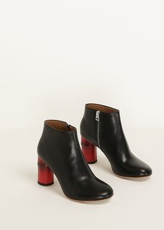 Acne Studios Luda Ankle Boot (Black / Red)