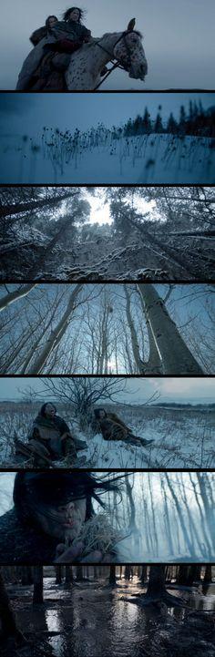 The Revenant, dir. Alejandro G. Iñárritu. Cinematography Emmanuel Lubezki