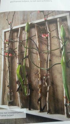 Bloemen ingekaderd