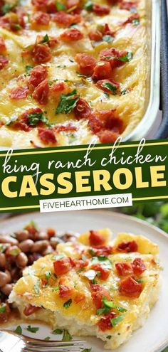 King Ranch Chicken Casserole will become a favorite! This from-scratch recipe features a quick and easy homemade sauce with NO canned condensed soup. With layers of chicken, cheese, and tortillas, this comfort food classic is going to be a regular on your dinner rotation! Simple Recipes, Fall Recipes, Real Food Recipes, Yummy Recipes, Easy Chicken Dinner Recipes, Easy Meals, King Ranch Chicken Casserole, Thanksgiving Dinner Recipes, Best Casseroles