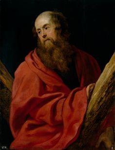 San Andrés, Rubens, ca. 1611, Óleo sobre tabla, Museo del Prado