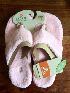 9549a4c47eab NEW Acorn Women s New Spa Thong Premium Slippers Pink - Size Small Large  Wide  acorn  Slippers