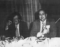 Kurt Vonnegut with Daniel Pinkwater.