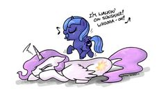 Lol Luna is walking on the sun!!!! Sorry celestia