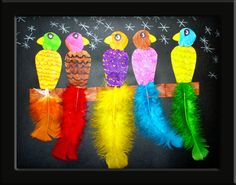 birds - good way to use up ALL THE FEATHERS we have.