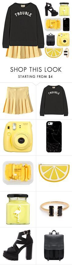 """#480"" by lost-in-a-daydr3am ❤ liked on Polyvore featuring Sea, New York, Fujifilm, Casetify, MANGO, Monki, Flamingo Candles and WithChic"