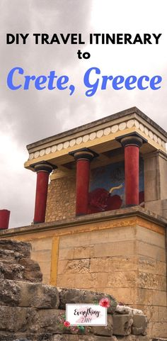 DIY Travel Itinerary to Crete- Palace of Knossos | #crete #creteisland #CreteGreece | Crete is the largest island in Greece. Crete has varied terrain ranging from fine-sand beaches to mountains. It has a rich history starting from its Minoan roots, the Venetian and the Ottoman occupations and also German occupation of the Second World War.
