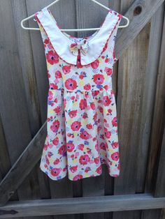 Vintage Girls Floral Dress 12/14 or Womens xs by lishyloo on Etsy