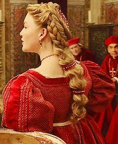 Mode Renaissance, Costume Renaissance, Renaissance Hairstyles, Historical Hairstyles, Renaissance Fashion, Italian Renaissance, Les Borgias, Lucrèce Borgia, Holliday Grainger
