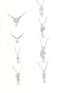 Diamond pendent Jewelry Design Drawing, Jewelry Sketch, Jewellery Sketches, Jewelry Crafts, Jewelry Art, Ring Sketch, Necklace Drawing, Jewelry Illustration, Handmade Hair Accessories