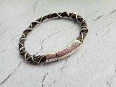 Homemade brown braided leather bracelet / by JHFWBeadsAndFindings