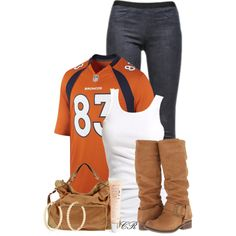 """""""DENVER BRONCOS!!!"""" by colierollers on Polyvore"""