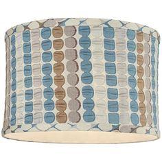 Klose Blue Drum Lamp Shade 12x12x8 (Spider) $30